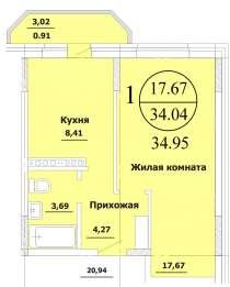 СРОЧНО! 1-комнатную квартира по выгодной цене, в Краснодаре