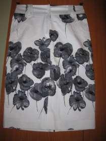 Юбка джинсовая белая с принтом, в Ханты-Мансийске