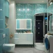 Ремонт ванной и туалетной комнаты, в Красноярске