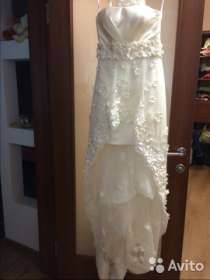 Свадебное платье со шлейфом (короткое), в Москве