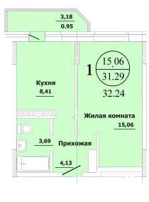 1-к квартира по выгодной цене, в Краснодаре