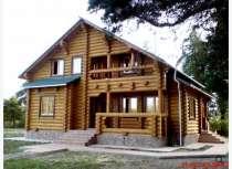 Дома, бани, беседки из оцилиндрованного бревна, в Омске