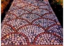 Укладка разноформатной брусчатки, в Подольске