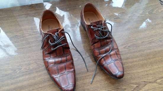 Туфли кожаные. Lucio Righertto.тиснение под крокодила.43 р-р