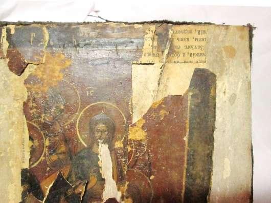 Икона старинная СПАС НА ТРОНЕ в Пятигорске Фото 3