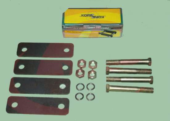 Серьга рессоры Газель-3302 пластина 6мм (4 болта+4 щеки) ф|у