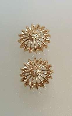 Серьги - гвоздики золото бриллианты жакеты