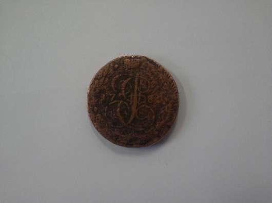 Монета медная екатерины второй