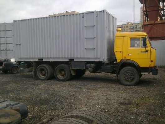КАМАЗ кабина жолтого цвета кузов контейнер