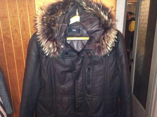 Куртка кожаная коричневого цвета в г. Киев Фото 1
