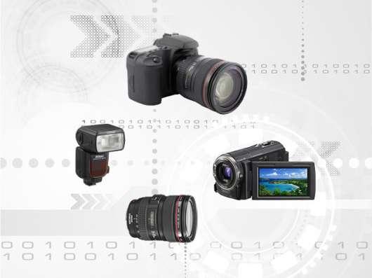 Ремонт фотоаппаратов, объективов, фотовспышек, видеокамер