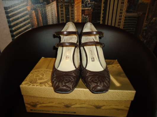 Туфли коричневые натурал. кожа р.35-36