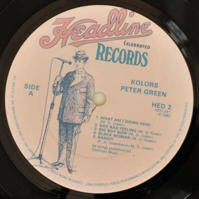 Peter Green ‎- Kolors (UK)