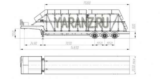 Трал панелевоз 40 тонник, 11 метров со съемной фермой для перевозки панелей. 3-х осный в Челябинске Фото 4