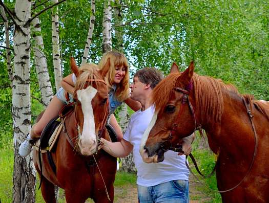 Романтическая конная прогулка в Нижнем Новгороде Фото 1