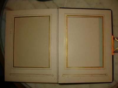 Старинный альбом для фото,застежка,золот
