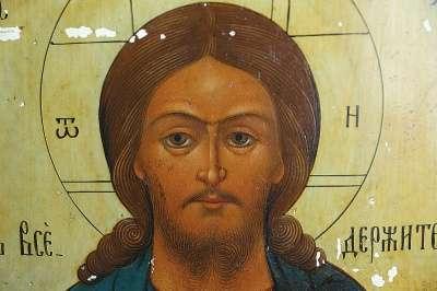 Аналойная икона Спасителя. Россия, XIX в