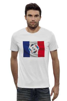 Стильная мужская футболка на тему ЕВРО-2016 во Франции