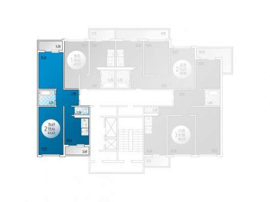 Квартира с отделкой в монолитно-кирпичном доме