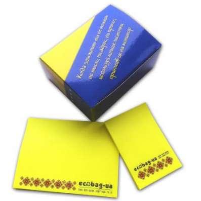 Изготовим под заказ комплекты блоков-стикеров типа Post-it с Вашим логотипом в г. Киев Фото 4