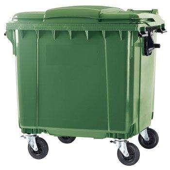 Пластиковый контейнер 1100 л. с крышкой