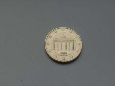 Монета 10 Евро Центов 2002 год А Германия