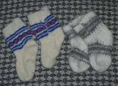 Детские вязанные носочки размер на 1-2,5