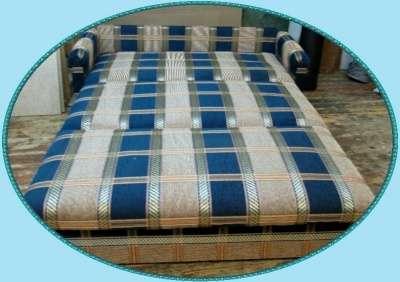 Диван-кровать 120 Шенил синий в клетку в Санкт-Петербурге Фото 1