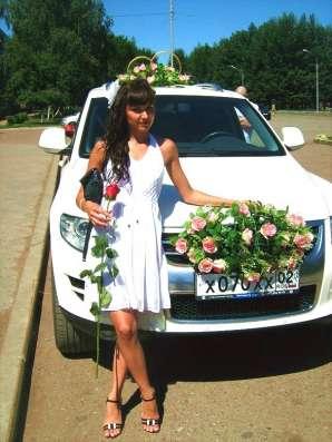 Свадебные украшения в Уфе, Кольца букеты для машин Фото 3