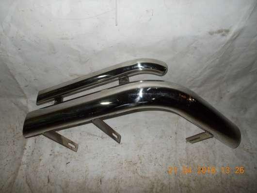 Защита задняя двойные уголки левая на Kia Sorento