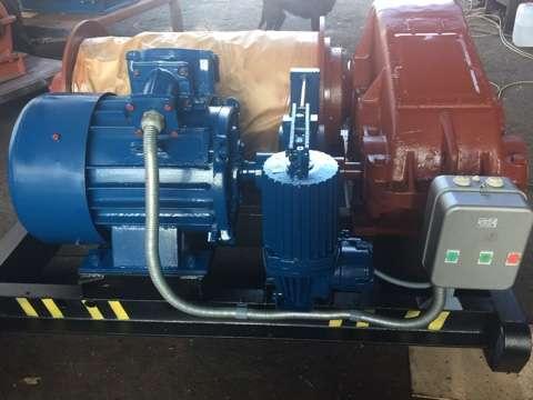 Лебедка маневровая электрическая ЛМ-5 с тросом