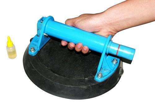"""HAND HELD SUCTION CUP Ручная присоска 8"""" (200 мм) для подъема каменных плит до 40 кг с ручным насосом"""