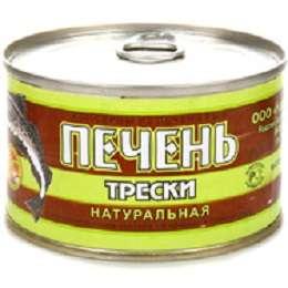 """Печень трески натуральная """"Норд фиш"""" 220 г"""