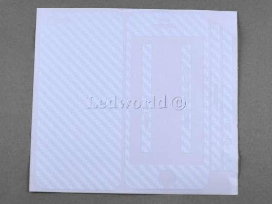 Комплект наклеек для iPhone 5 белый карбон