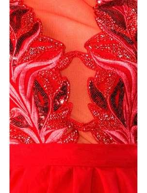 Красное вечернее платье в пол в Москве Фото 1