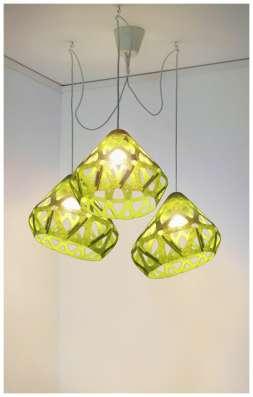 Люстра ZAHA LIGHT зеленая