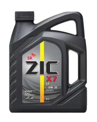 Масло Zic X7 LS 10W30 4литра синтетика