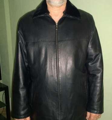 Куртка черная кожаная, 56 р-р, 5 рост в Челябинске Фото 1
