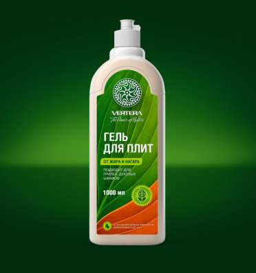 Биоразлагаемое чистящее средство для плит Vertera