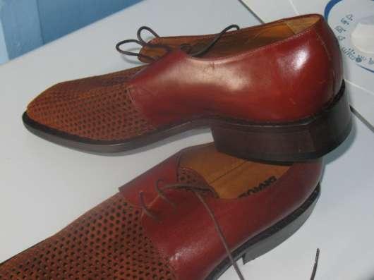 Мужские кожаные ботинки элитного бренда BRAUDE Италия