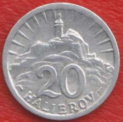Словакия 20 геллеров 1943 г.