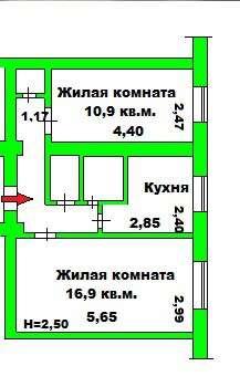 Продаю 2 комнатную квартиру ул. Дубовская 5, Ворошиловский р в Волгограде Фото 1