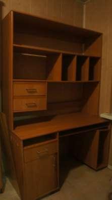 гардероб, сервант, шкаф, столы, полки  ольха, фабричная