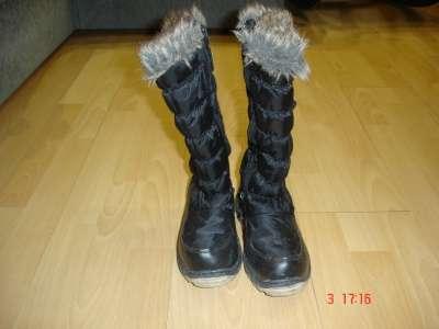 Зимние дутые сапожки для девочки
