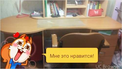 Компютерный столик и настенный шкафчик