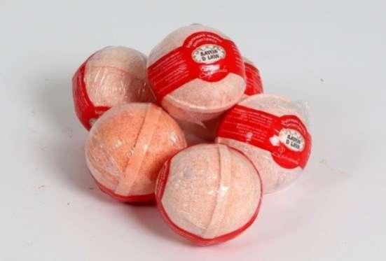 Бурлящие шарики для ванны. ОПТ. Savon D Lion 100гр