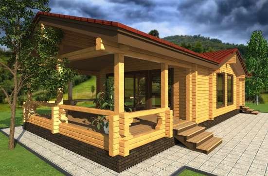 Проект банного дома из бруса от компании МОГУТА ДУШЕВНЫЙ