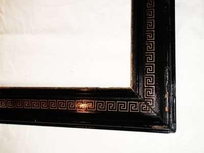 Рама стар. черный лак,с греч. рисунком