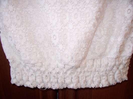 Белая кофточка, размер 44-46