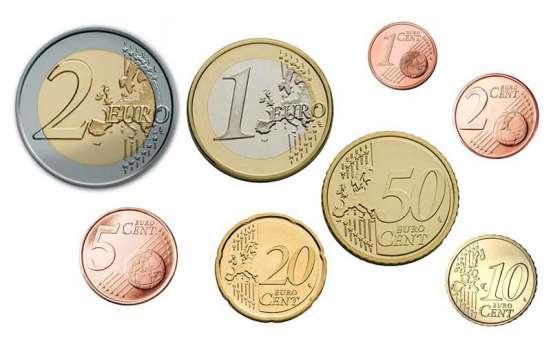 Евромонеты от 1 евроцента до 2 евро (погодовка)